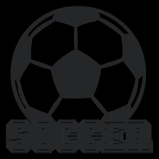 Soccer giant ball badge