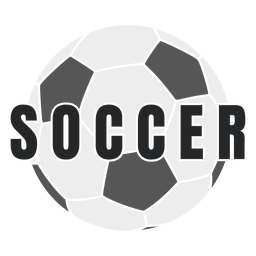 Soccer ball cut-out badge