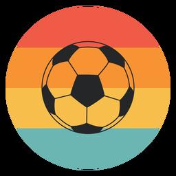 Balón de fútbol colorido plano