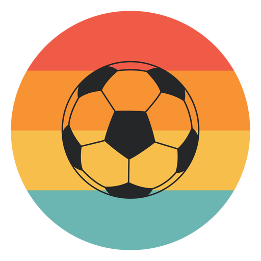 Soccer ball colorful flat
