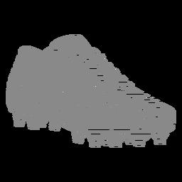 Recorte de sapato profissional de futebol