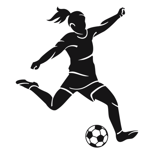 Girl playing soccer cut-out