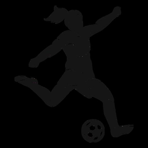 Mädchen, das Fußballausschnitt spielt