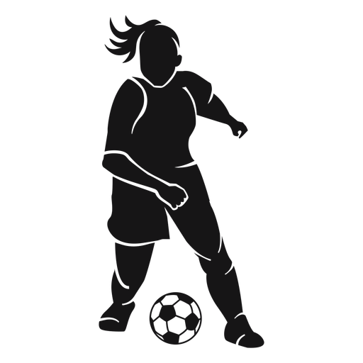 Girl soccer player cut-out Transparent PNG