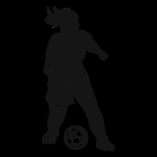 Recorte de jugador de fútbol chica Transparent PNG