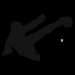 Recorte de jogador de futebol masculino
