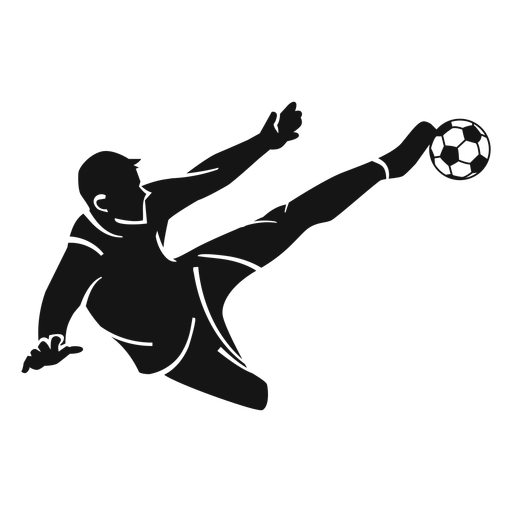 Male soccer player cut-out