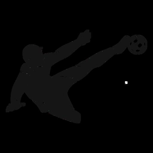 Recorte de jugador de fútbol masculino