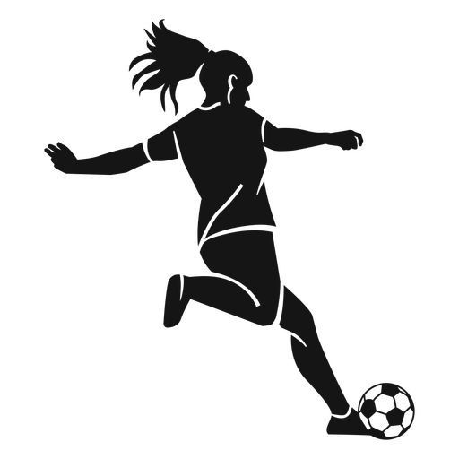 Girl football player cut-out