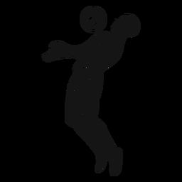 Hombre, jugar al fútbol, recorte