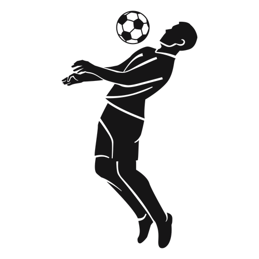Mann, der Fußballausschnitt spielt