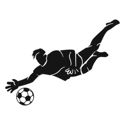Soccer sport player cut-out