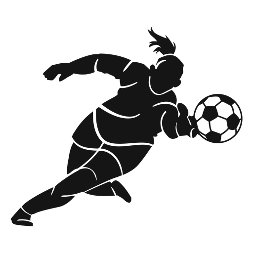 Woman soccer player cut-out Transparent PNG