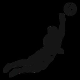 Recorte de esporte de jogador de futebol