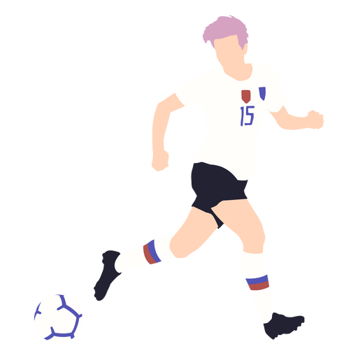 Male soccer player flat
