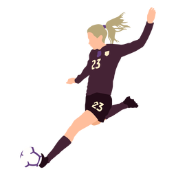 Female soccer player flat