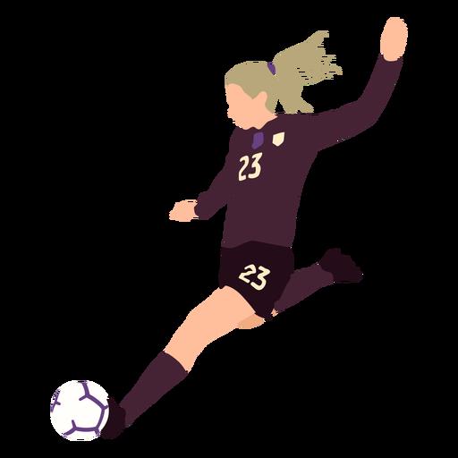 Female soccer player flat