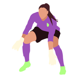 Female goalie soccer flat