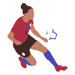 Woman soccer player flat