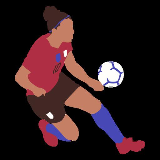 Woman soccer player flat