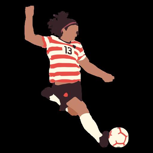 Man soccer player kicking flat