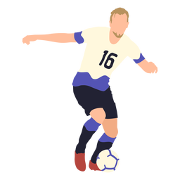 Soccer player playing flat