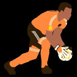 Goalkeeper soccer flat