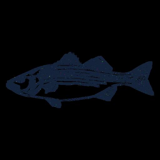 Fish profile line art