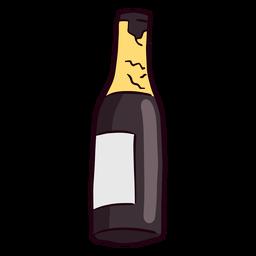 Empty champagne bottle