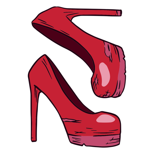 Old heels illustration
