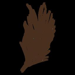 Single wheat spike hand-drawn
