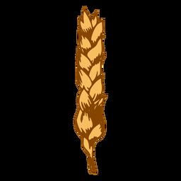 Simple wheat spike illustration