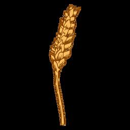 Sloping wheat illustration