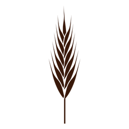 Pointy wheat spike cut-out