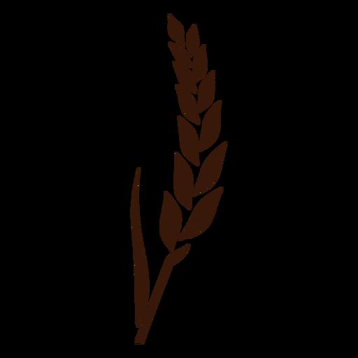 Wheat spike stem cut-out