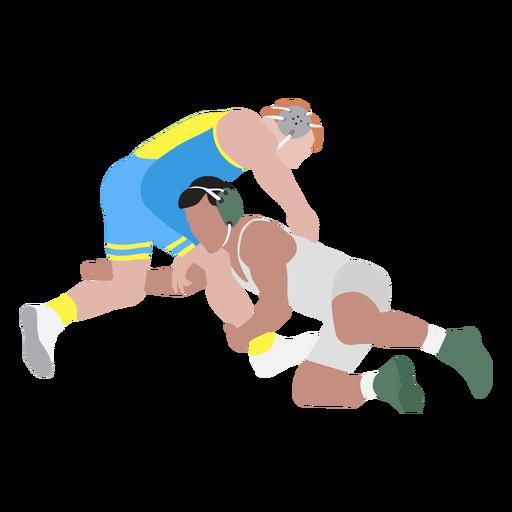Professional wrestlers flat