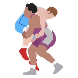 Professional wrestlers hold flat