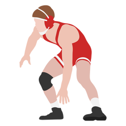 Professional wrestler pose flat