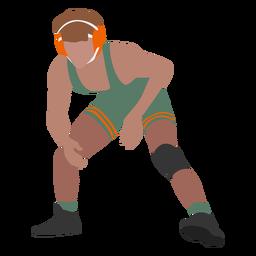 Wrestler posing flat
