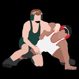 Wrestlers hold flat
