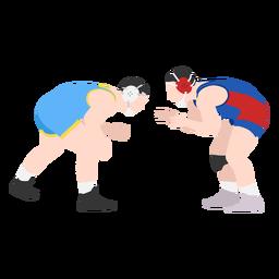 Wrestlers combat flat