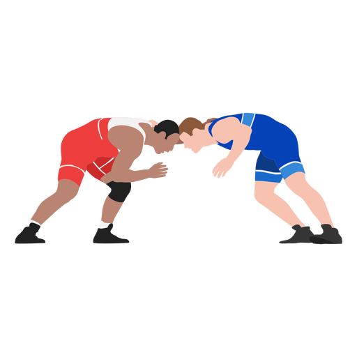 Wrestlers attack flat