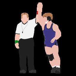 Wrestler winner flat