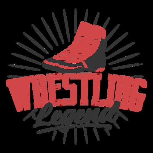Wrestling legend quote badge Transparent PNG