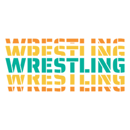 3d wrestling lettering
