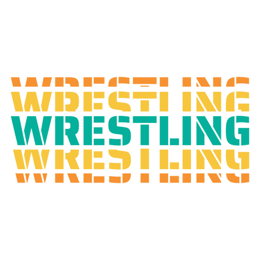 3d wrestling lettering Transparent PNG