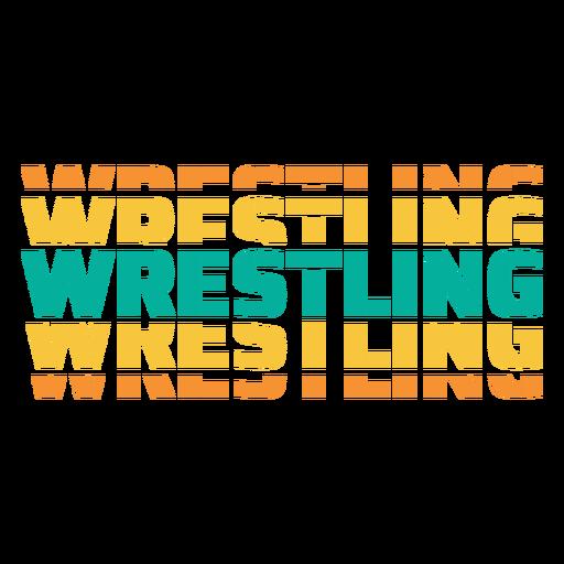 3D-Wrestling-Schriftzug