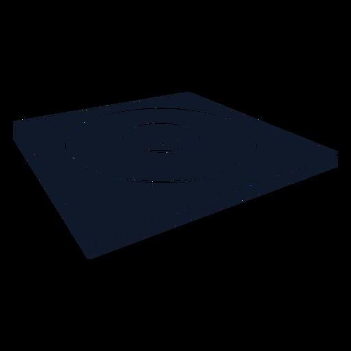 Wrestling mat cut-out