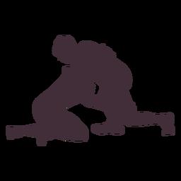 Wrestlers combat wrestling silhouette