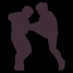 Wrestling hold silhouette